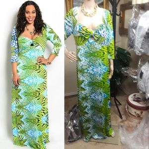 Dresses & Skirts - 🆕️ Aqua Green 3/4 Hand Plus Maxi dress